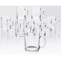 Bormioli Rocco Boston Stackable Mugs - Set of 12