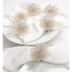 April Cornell Sparkle Napkin Rings - Set of 6