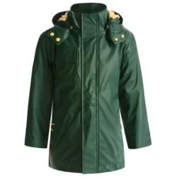 Hatley Splash Rain Jacket - Detachable Hood, Terry Lined (For Boys)