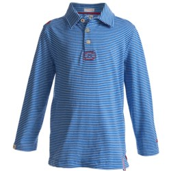 Hatley Cotton Polo Shirt - Long Sleeve (For Boys)