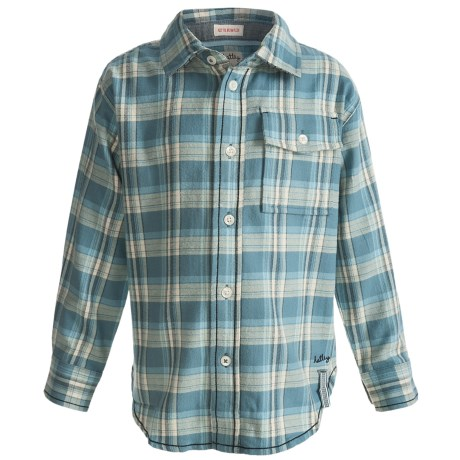 Hatley Flannel Plaid Shirt - Long Sleeve (For Kids)