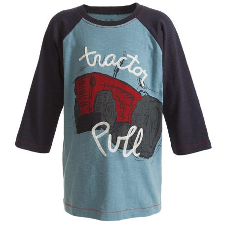 Hatley Baseball T-Shirt - Cotton, 3/4 Sleeve (For Toddlers)
