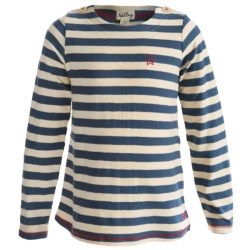 Hatley Button Shoulder Shirt - Slub Cotton, Long Sleeve (For Girls)