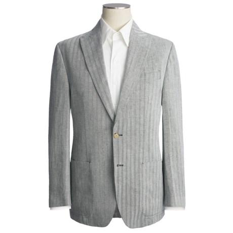 Thomas Dean Herringbone Blazer - Cotton-Linen (For Men)