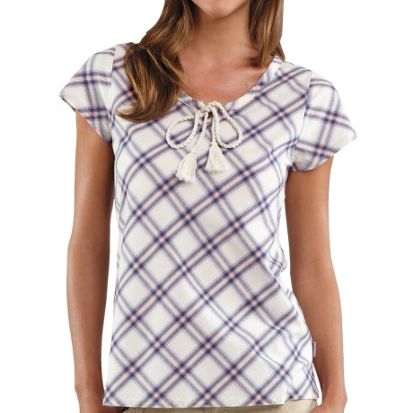 Carhartt Libby Plaid Shirt - Tie Neck, Short Sleeve (For Women)