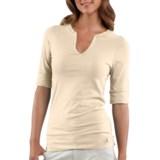 Carhartt Solid T-Shirt - Notch Neck, Elbow Sleeve (For Women)