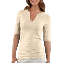 Carhartt Solid T-Shirt - Notch Neck, Elbow Sleeve (For Women)