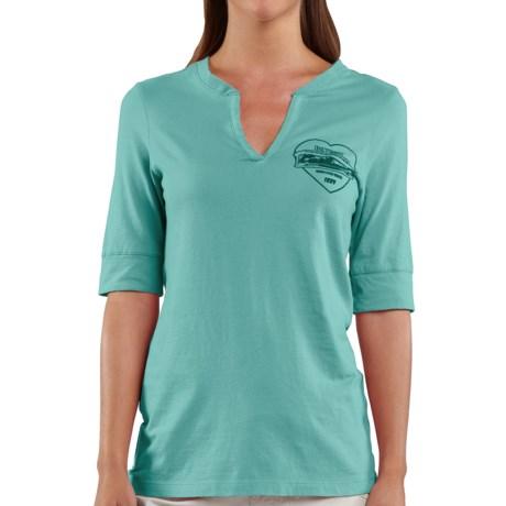 Carhartt Graphic T-Shirt - Split Neck, Elbow Sleeve (For Women)