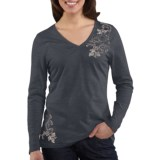 Carhartt Floral Graphic T-Shirt - V-Neck, Long Sleeve (For Women)