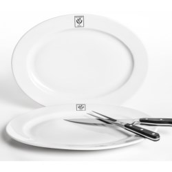 "BIA Cordon Bleu Bistro Oval Platters - 16"", Set of 2"