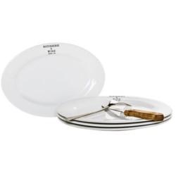 "BIA Cordon Bleu Bistro Oval Steak Platters - 12"", Set of 4"