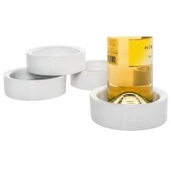 BIA Cordon Bleu Ceramic Wine Bottle Coasters - Set of 4