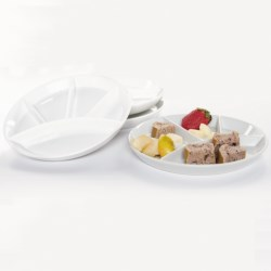 "Bia Cordon Bleu 10"" Fondue Plates - Set of 4"