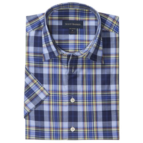 Scott Barber Charles Plaid Shirt - Spread Collar, Short Sleeve (For Men)