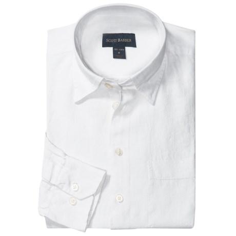 Great linen shirt scott barber andrew linen sport shirt for Hidden button down collar shirts