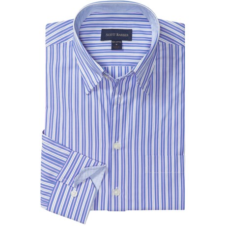 Scott Barber Andrew Fancy Multi-Stripe Sport Shirt - Long Sleeve (For Men)