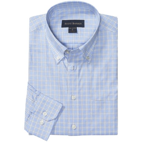 Scott Barber James Multi-Check Sport Shirt - Long Sleeve (For Men)
