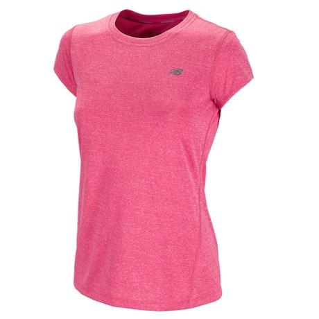 New Balance Heathered T-Shirt - Short Sleeve (For Women)