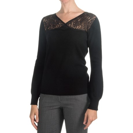 Lauren Hansen Cashmere Dressy V-Neck Sweater (For Women)