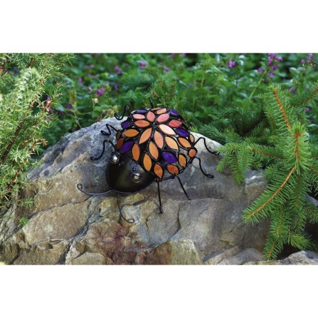Ancient Graffiti Insect Figurine with Stained Glass Inlay