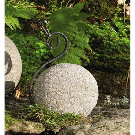 Ancient Graffiti River Stone Garden Creatures - Large