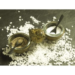 Ancient Graffiti Tabletop Salt and Pepper Cellar with Spoons