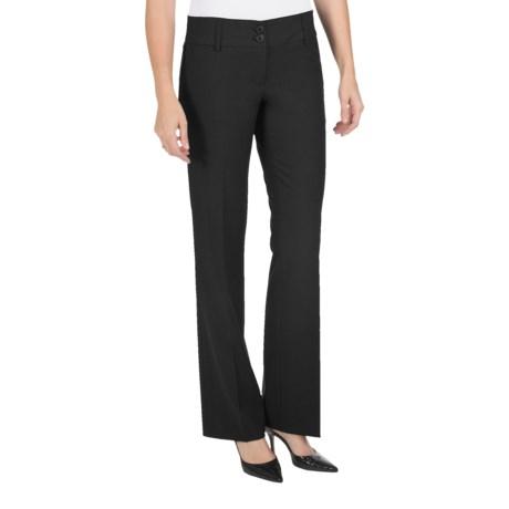 Amanda + Chelsea Straight-Leg Dress Pants - Contemporary Fit, Low Rise (For Petite Women)