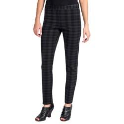 Amanda + Chelsea Ponte Plaid Skinny Leg Pants (For Women)