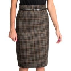 Amanda + Chelsea Long Pencil Skirt - Belted (For Women)