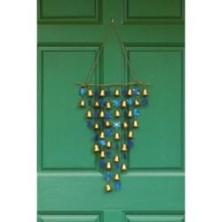Ancient Graffiti Shimmering Bells Wind Chime/Door Hanger