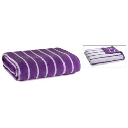 Kudo's by Chortex Reversible Stripe Bath Sheet - 500gsm