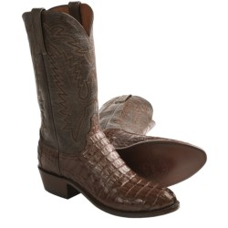 1883 by Lucchese Hornback Western Boots - Caiman Tail, Calf Leather, R-Toe (For Men)