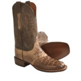 Lucchese HB Croc Tail/Calf Western Boots - W-Square Toe (For Men)