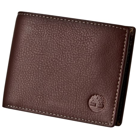 Timberland Natural Grain Leather Commuter Wallet