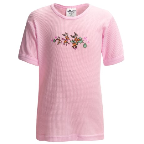Watson's Thermal Waffle Base Layer Top - Lightweight, Short Sleeve (For Girls)