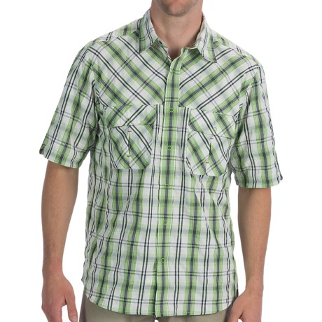 Woolrich Tectonic Plaid Shirt - UPF 20, Cocona®, Short Sleeve (For Men)