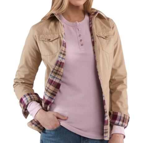 Carhartt Jackson Shirt Jacket - Flannel-Lined, Long Sleeve (For Women)
