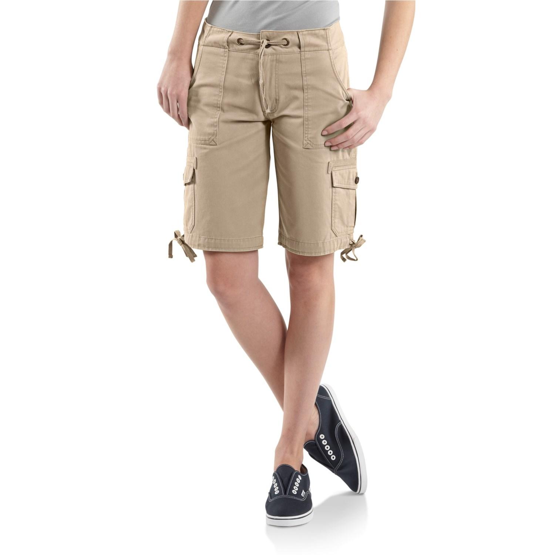 carhartt cotton drawstring cargo shorts for women 6311f. Black Bedroom Furniture Sets. Home Design Ideas