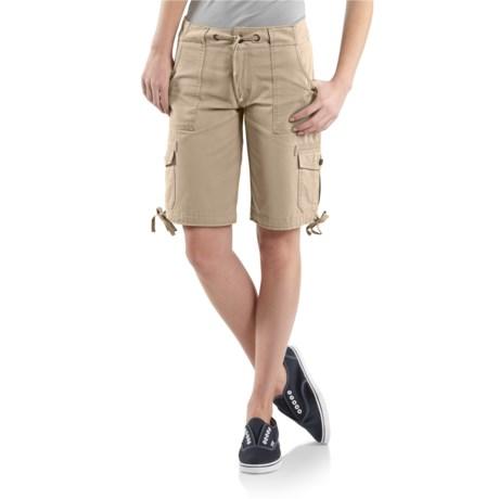 Carhartt Cotton Drawstring Cargo Shorts (For Women)