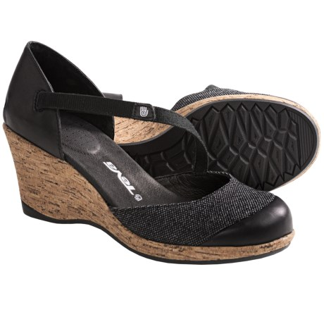 Teva Riviera Wedge MJ Shoes - Leather (For Women)