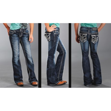 Rock & Roll Cowgirl Lightning Bolt Jeans - Bootcut (For Girls)