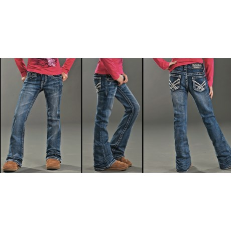 Rock & Roll Cowgirl Bootcut Jeans (For Girls)