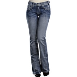 Rock & Roll Cowgirl Swirl Embroidered Flap Pocket Jeans - Mid Rise, Bootcut (For Women)