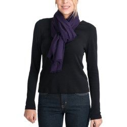 Johnstons of Elgin Woven Cashmere Scarf (For Women)