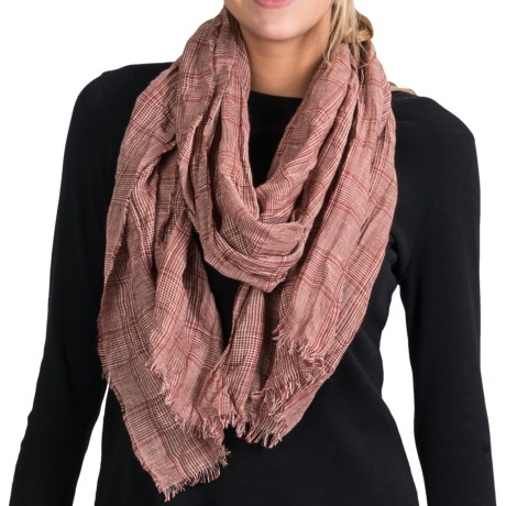 Johnstons of Elgin Luxe Glen Plaid Scarf - Lightweight (For Women)