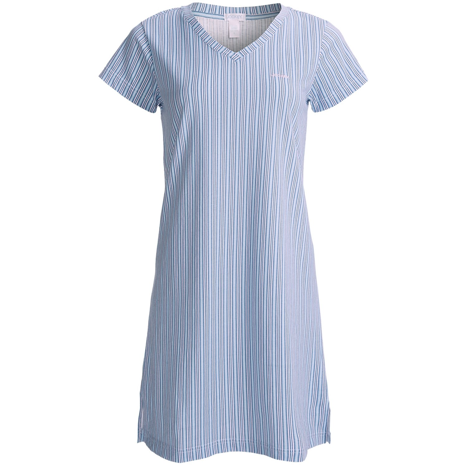Jockey v neck sleep shirt for women 6324x save 59 for Sleep shirt short sleeve