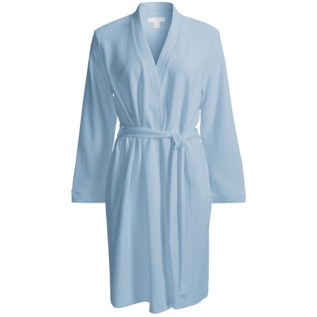 Carole Hochman Short Robe - Cotton, Long Sleeve (For Women)