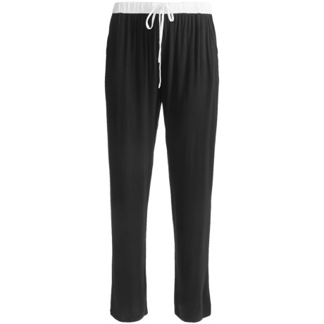 Nicole Miller Contrast Waistband Lounge Pants - Stretch Rayon (For Women)