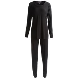 Carole Hochman Midnight by  Stretch Modal Pajamas - Long Sleeve (For Plus Size Women)