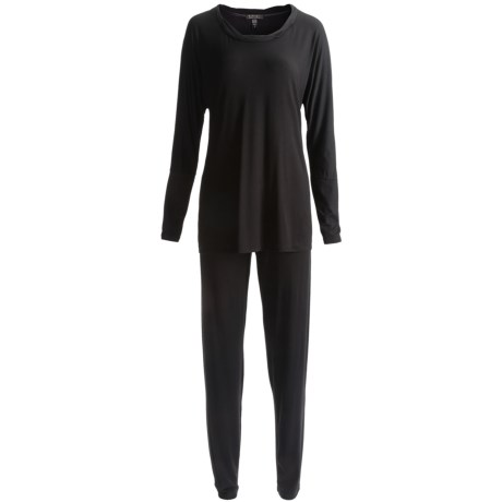 Midnight by Carole Hochman Stretch Modal Pajamas - Long Sleeve (For Plus Size Women)